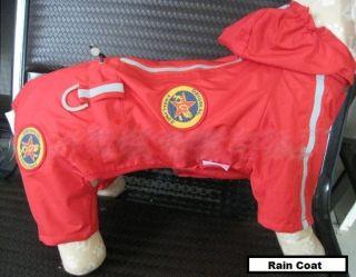Pet Dog Rain Coat Wear Hoodie Hooded Jacket Coat Waterproof Jumpsuit
