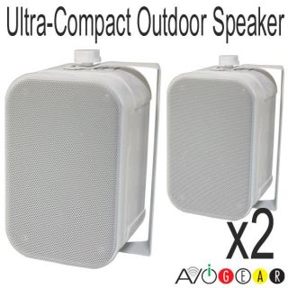 Compact 3.5 Inch In / Outdoor Speakers 2 Way / Wall Mounts 1pr White