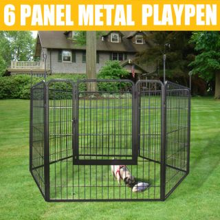 Heavy Duty Cage Pet Dog Cat Barrier Fence Exercise Metal Play Pen