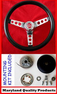 NEW Mercury Comet Cyclone Monterey GRANT Steering Wheel Black 13.5
