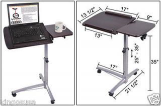 Hospital Food Tray Computer PC Rolling Laptop Desk Tiltable Split Top