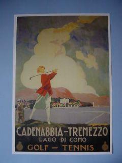 Early Cadenabbia Tremezzo Lake Como Italy Golf Course Lady Golfer