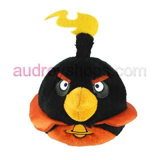 Angry Birds Angry Bird 8 Space Fire Bomb Black Bird Plush with sound