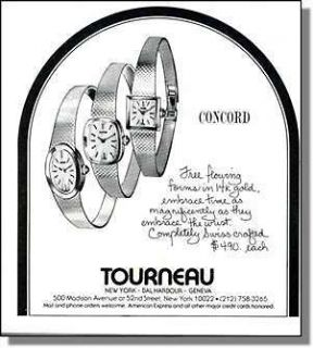 1978 Concord Ladies Watches at Tourneau Stores Print Ad