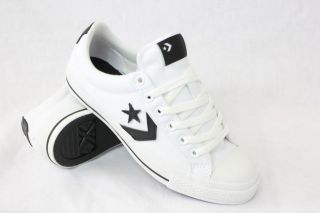 CONVERSE STAR PLAYER S II WHITE BLACK CANVAS MENS SKATE SHOE SIZES 5