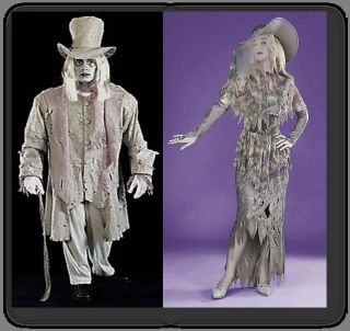 Ghostly Couples Costume Ghost Marley and Me Horror Halloween Adult