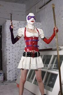Latex costume cosplay Batman Arkham Asylum Harley Quinn Latex boots