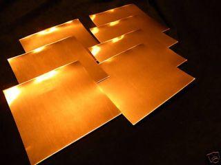 Nimrod Hall Copper Foil 6x6 Sheet Samples All (1,1.4,2,3,4,5,6,7
