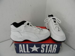 New Womens Converse Steel Toe White Leather Athletic
