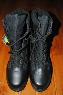 BRAND NEW WITH TAG CORCORAN BLACK LEATHER COMBAT BOOTS   SIZE 8M