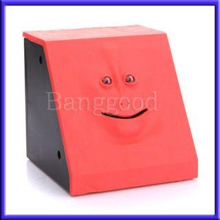 New Facebank Face Bank Saving Sensor Coin Money Eating Box Piggy Cute
