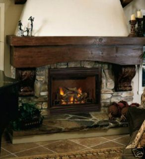 Oak Corner Fireplace Mantel   New (Fits both electric or gas inserts