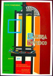Vera Cortes 79 Exposicion Pinturas Galeria DIVEDCO Cartel Serigraph