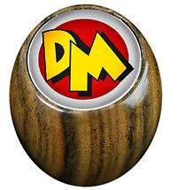 Danger Mouse Logo Gear Knob Choice of Wood or Leather