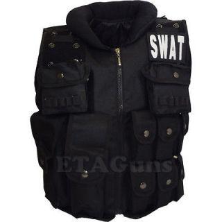 Halloween Costume Black SWAT Commander Tactical Combat Assault Utility