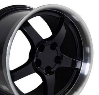 17 18 9.5/10.5 Black C5 Deep Dish Wheels Rims Fit Camaro Corvette