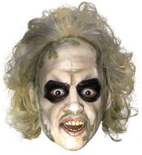 Costumes! Lic Beetlejuice 3/4 Face Costume Mask w Hair