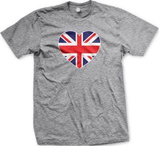 Great Britain Heart Flag Womens Ladies T Shirt British Football World