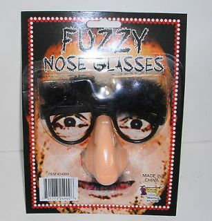 Fuzzy Nose Mustache Moustache & Eyebrow Glasses Disguise Carded