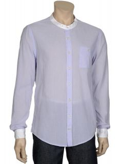 for Beautiful People Mens Blue Pinstripe Cotton Shirt Large L $134