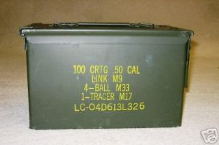 Ammo Boxes 50 Cal US Army Ammunition Can Excl Box