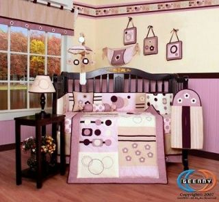 Boutique GEENNY Baby Girl Artist 13PCS CRIB BEDDING SET