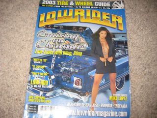 Lowrider Magazine march 2003 Cruising on Chrome 63 Impala