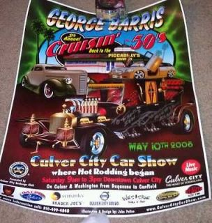 Koach George Barris Poster CULVER CITY CAR SHOW 08 CRUISIN MUNSTERS