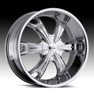 24 INCH 5X4.5 5X4.75 CHROME MILANNI STELLAR WHEELS RIMS 5 LUG 24X9.5
