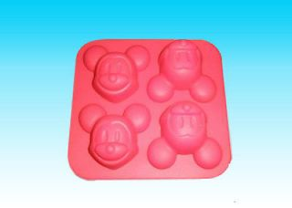 Grade Silicone Cake Mold/Muffin Cupcake Pan Four Mickey Mouse Mold