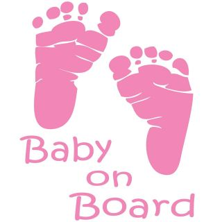 BABY ON BOARD  CUSTOM MADE WINDOW DECAL GREAT GIFT IDEA