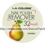 COLORS~32 Nail Polish Remover Pads PEAR Scented~Aceton​e Free