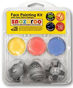 Face Paint Painting Stamp Kit Easter #1 1/Chick 1/Egg 1/Rabbit