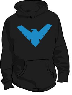 nightwing logo dc superhero kids hoodie all sizes location united