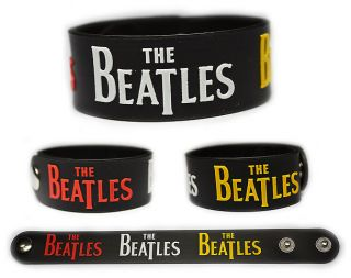 THE BEATLES Rubber Bracelet Wristband Lennon McCartney Harrison Starr