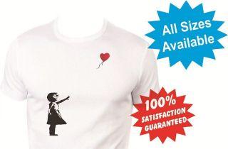 heart balloon Boys girls kids T Shirt New White Custom Print Tee