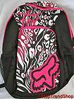 Fox Racing Co girls logo backpack w/ padded laptop sleeve black $55
