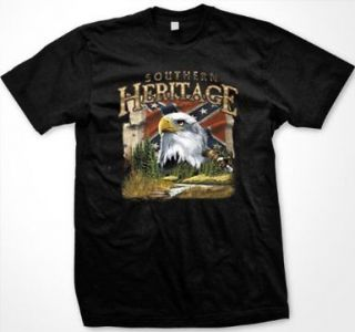 Southern Heritage Bald Eagle Womens Ladies T Shirt Confederate Flag
