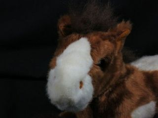 DANDEE VERY FUZZY PINTO HORSE BROWN FEET WHITE SPOTS PLUSH STUFFED