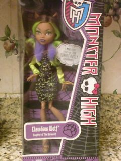NEW Monster High Clawdeen Wolf doll Daughter of Werewolf