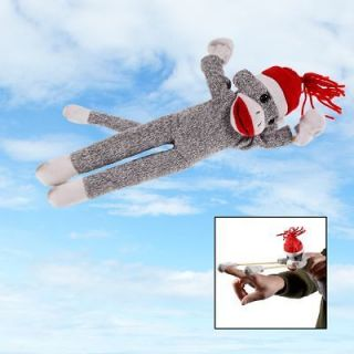 Flying Screaming Sock Monkey Toy Launch 50ft Superfly Slingshot Kids