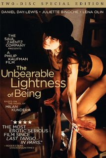 The Unbearable Lightness of Being DVD, 2006, 2 Disc Set, Special