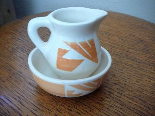 SIOUX POERY SOUH DAKOA   Vinage Mini Bowl & Picher   Signed