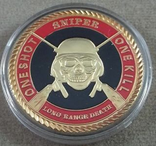 US Army Sniper / One ShotOne Kill Challenge Coin