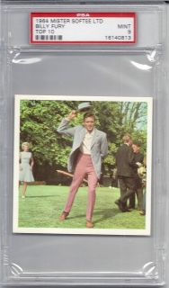 1964 Mister Softee, Top 10, Billy Fury, PSA 9 Mint