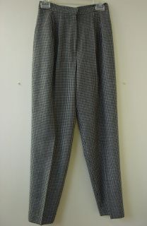 JOHN MEYER OF NORWICH THE STUDIO Black Gray Wool Pants Slacks Size 6