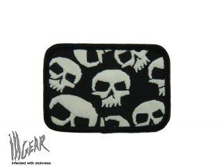 ill Gear MONSTER GITD SKULLS Velcro Patch Tactical Survival Zombie
