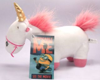 Despicable Me Character fluffy Unicorn Stuffed Plush Solf Doll Toy