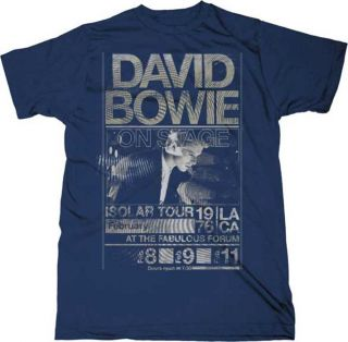 New David Bowie Isolar 1976 Tour  X Large Navy Slimfit T shirt