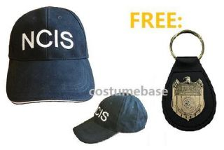 NCIS CAP FREE BADGE HOLDER Baseball Hat Embroidered NEW